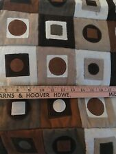 """Faux Suede Upholstery Patchwork Fabric 98"""" X 48"""" Piece."""