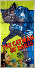 CATMAN OF PARIS 1944 Carl Esmond Lenore Aubert HORROR US 3-SHEET POSTER