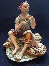 Ceramica Bertolotti Pescatore,no Lenci,Cacciapuoti