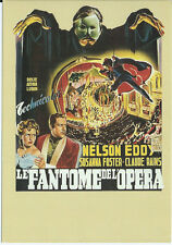 Cartolina Manifesto DA Film - LE FANTASMA Da l'OPERA - Col Télérama Rif:42