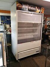 True Tac-48 Open Air Cooler Display Merchandiser with Night Curtain