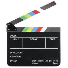 Dry Erase Director's Film Movie Clapboard Cut Action Scene Clapper Board Sl G8N6