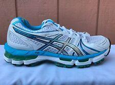 EUC Asics Gel Kayano 18 Women's Running Shoes Size US 6 EUR 37 White T250N