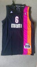 LeBron James Miami Heat Nights Authentic Jersey #6 Black XL Adidas NEW