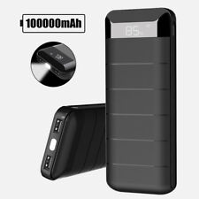 Portable 100000mah External Power Bank Pack 2usb Battery Charger for Phone UK