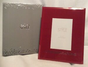 """Red Photo Frame - Congratulations Design - 4""""X 6"""" - Brand New And Boxed"""