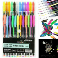 12/24/36/48PCS Color Gel Pen Paint Book Craft Drawing Neon Graffiti Art Book