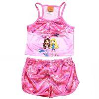 Lil' Bratz Girl's Pink 2 Piece Pajama Tank Top & Short Sleepwear Set Sz. 4/5