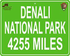 Denali National Park in Alaska custom mileage sign your house