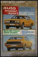 AMS Auto Motor Sport 7/71 * Jaguar E-Type Ford Taunus Coupe R4 L