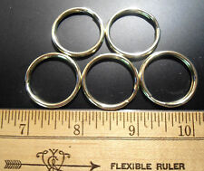 "100  POLISHED SOLID BRASS  1"" OD  (slightly larger 1.1"")  KEY SPLIT RINGS"
