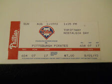 1993 Philadelphia Phillies vs. Pittsburgh Pirates Ticket Stub (SKU2)