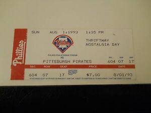 1993 Philadelphia Phillies vs. Pittsburgh Pirates Ticket Stub (SKU2)