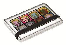 Andy Warhol TROIKA in Metallo Custodia Credito Business Card Holder 10th EDIZIONE Marilyn