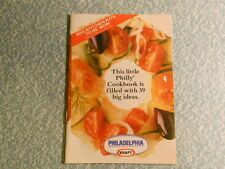 kraft PHILADELPHIA 39 recipes cookbook pamphlet