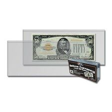 50 NEW Currency Large Bill Holders Quality Protectors, Firm, Strong BCW Brand