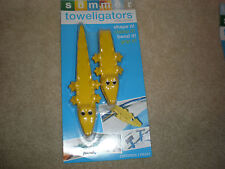 Summer Toweligators Yellow Alligator Towel Clamp Clips New In Package