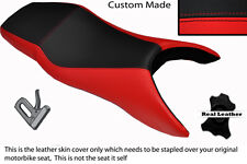 RED & BLACK CUSTOM FITS HONDA CBR 600 F 99-08 F DUAL LEATHER SEAT COVER