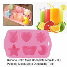 Silicone Cake Mold Chocolate Moulds Jelly Pudding Molds Soap Decorating Tool EA