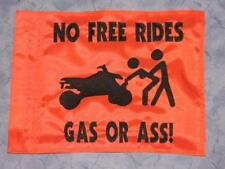 Custom GAS OR A*S ATV Safety Replacement Whip Flag. Great 4 Jeep UTV Trike Bike