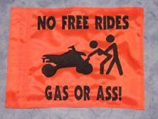 Custom GAS OR A*S Flag  for Safety ATV UTV Bike Dune Whip Pole