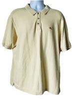 Tommy Bahama Men's Size L Yellow Short Sleeve Supima Cotton Blend Polo Shirt EUC