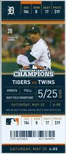2013 Tigers vs Twins Ticket: Joe Mauer went 3-for-4 and belted his a homer