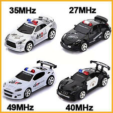 Mini RC Radio Remote Control Micro Racing Police Car LED Cars Controller Toy