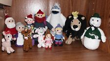 Handmade Crocheted Amigurumi Rudolph and the Misfit Toys Complete set of 12