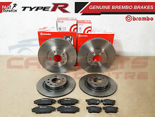 FOR HONDA CIVIC EP3 2.0 Type-R FRONT + REAR BREMBO BRAKE DISCS PADS SCREWS KIT