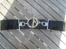 Large ceinture noire vernie. Belle fermeture originale. Taille 2. TBE a3bc11f60af