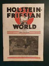HOLSTEIN WORLD 1923 FAMOUS SIRE STORIES + PRODUCTION LEADERS + JOHN ERICKSON