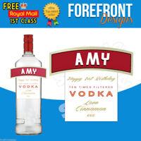 Personalised Vodka bottle label, Perfect Birthday/Wedding/Graduation Gift