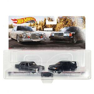 HOT WHEELS Mercedes-Benz Car Culture 2 Pack 72 280 SEL 90 190E EVO II HBL99 2021