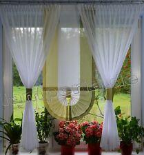 fenêtre 120 cm Rideau complet décoration cuisine salon blanc vert 00561