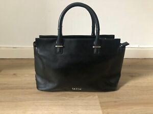 Calvin Klein Leder Tasche Handtasche Carolyn Tote Umhängetasche Henkel TOP