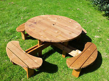 commercial grade Supersized Excalibur round picnic table codeSSEXCAL 38mm thick