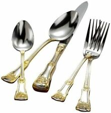 Royal Albert Old Country Roses 20pc Cutlery Stainless Steel/Gold Accent RRP $249