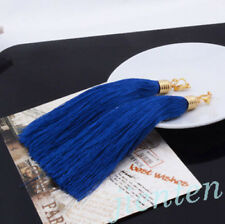 Women Bohemian Silk Yarn Earrings Vintage Long Tassel Fringe Boho Dangle Drop