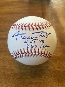 WILLIE MAYS SIGNED AUTOGRAPHED  OFFICIAL MAJOR LEAGUE BASEBALL w / 660 HR & HOF