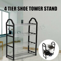 3/4 Tiers Shoe Tower Rack Storage Space Saving Organizer Stand Closet Cabinet