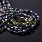 New 100pcs 5X3mm Teardrop Crystal Glass Faceted Spacer Loose Beads BlackColorful
