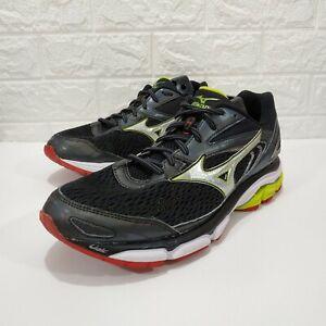 Mizuno Wave Inspire 13 Mens US 10 EUR 43 Athletic Running Shoes Black Yellow VGC