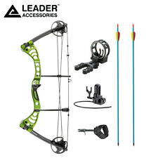"""Leader Accessories Compound Bow 30-55lbs 19""""-29"""" Archery Hunting w Speed 296fps"""