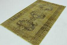 Orient Teppich Vintage senf modern Used Look 190x110 chic handgeknüpft 167003