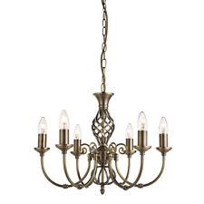 Searchlight 8396-6 Zanzibar Antique Brass 6 Light Fitting Ornate Twisted Column