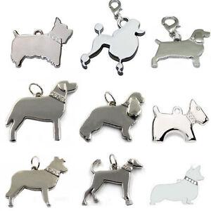 Chameleon Pet Dog, Puppy Collar Pendant Charm Jewellery (Choose your dog)