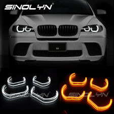 Acrylic Crystal LED Angel Eye Halo Dual Color For BMW X6 X6M E71 E72 Accessories
