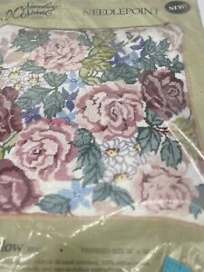 Candamar Roses Pillow needlepoint kit