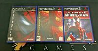 Spider-Man 1 & 2 & Ultimate - Playstation 2 PS2 Games Bundle - TESTED/WORKING